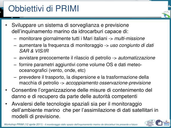 Obbiettivi di PRIMI