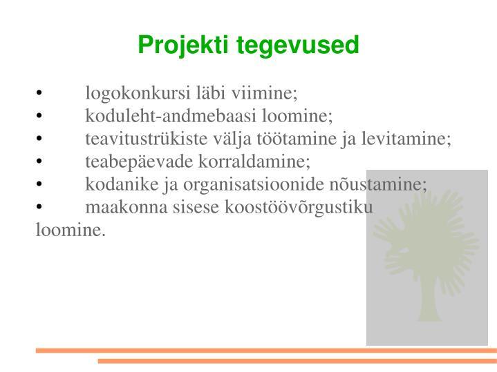 Projekti tegevused