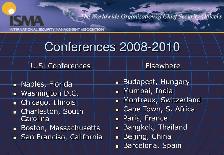 U.S. Conferences