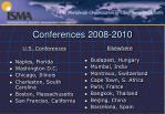 conferences 2008 2010