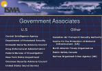 government associates
