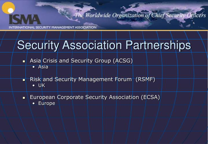 Security Association Partnerships