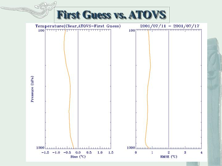 First Guess vs. ATOVS