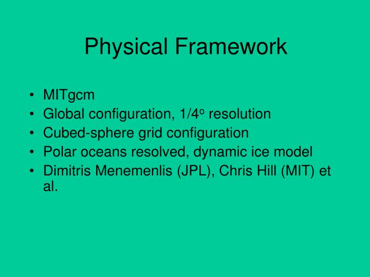 Physical Framework