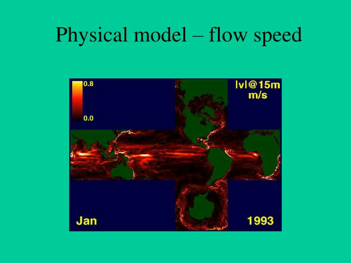 Physical model – flow speed