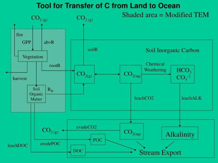 Tool for Transfer of C from Land to Ocean
