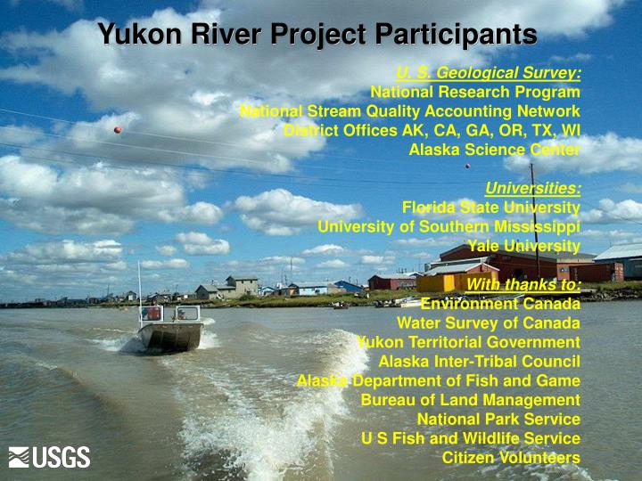 Yukon River Project Participants