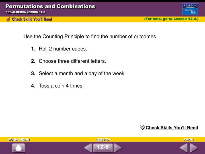 Permutations and combinations1