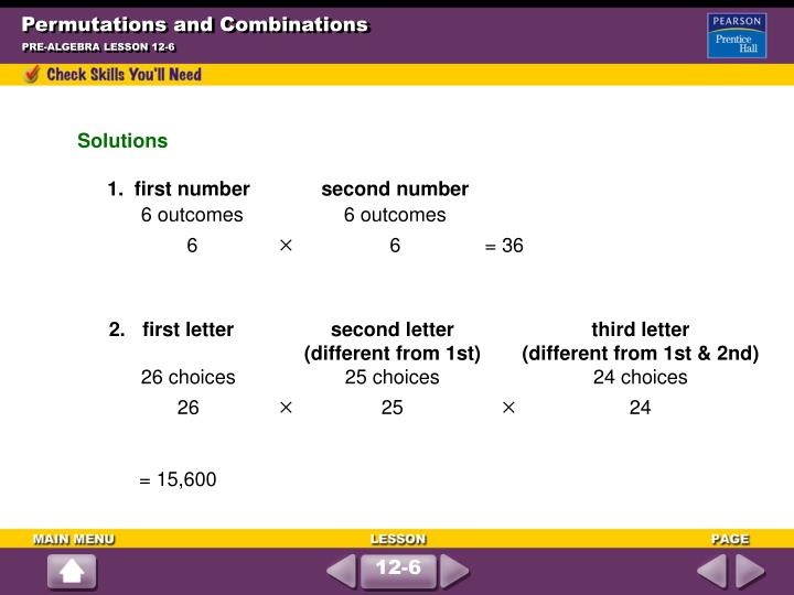 Permutations and combinations2