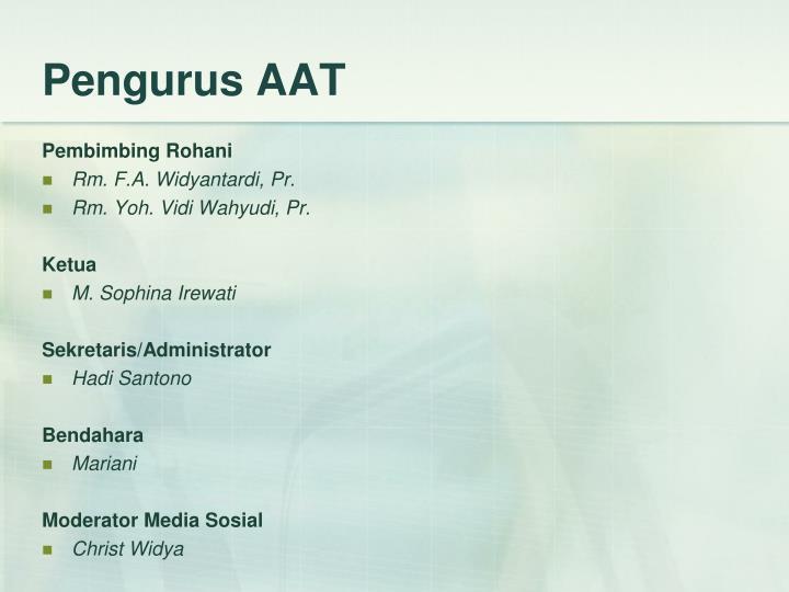 Pengurus AAT