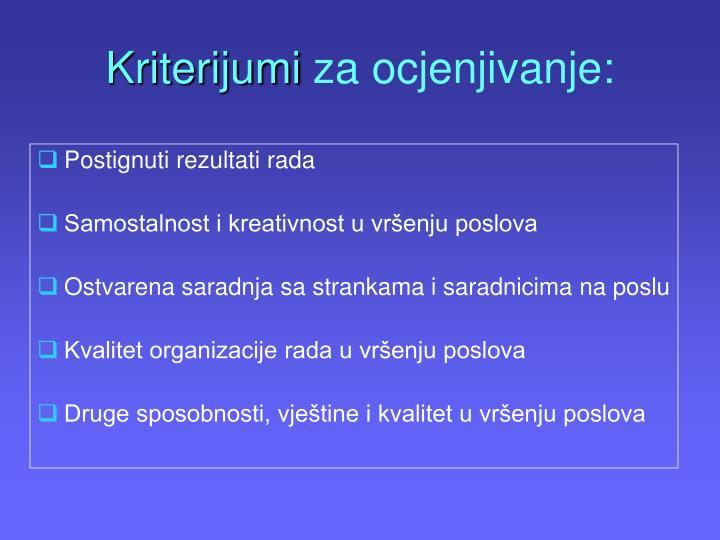 Kriterijumi