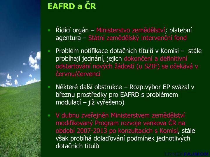 EAFRD a ČR