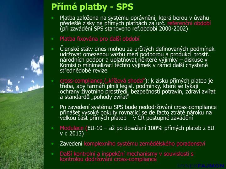 Přímé platby - SPS