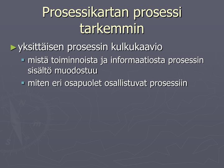 Prosessikartan prosessi tarkemmin