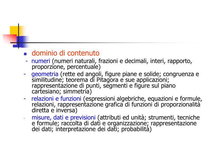 dominio di contenuto