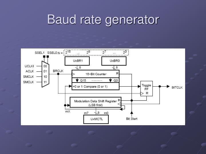 Baud rate generator