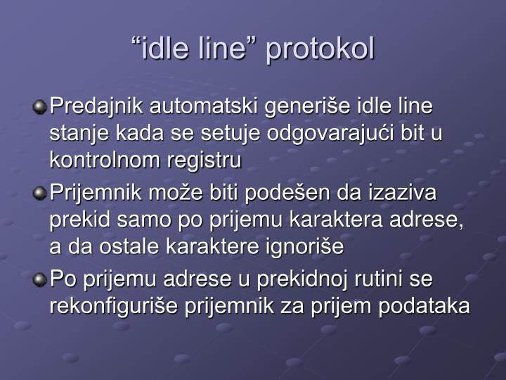 """idle line"" protokol"