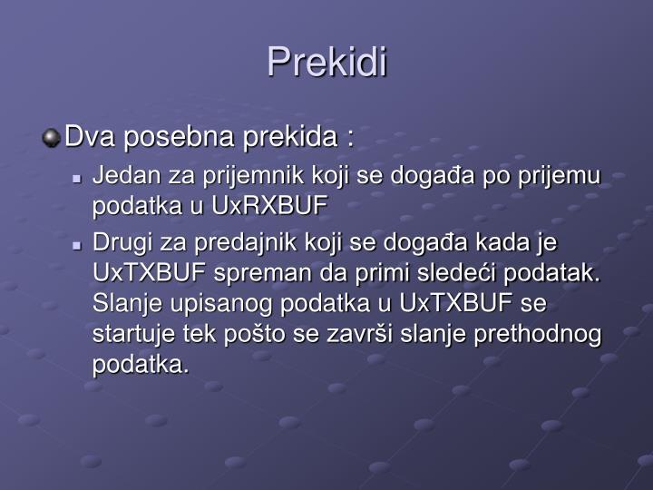 Prekidi