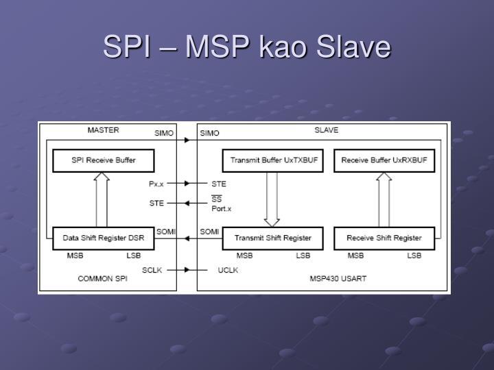 SPI – MSP kao Slave