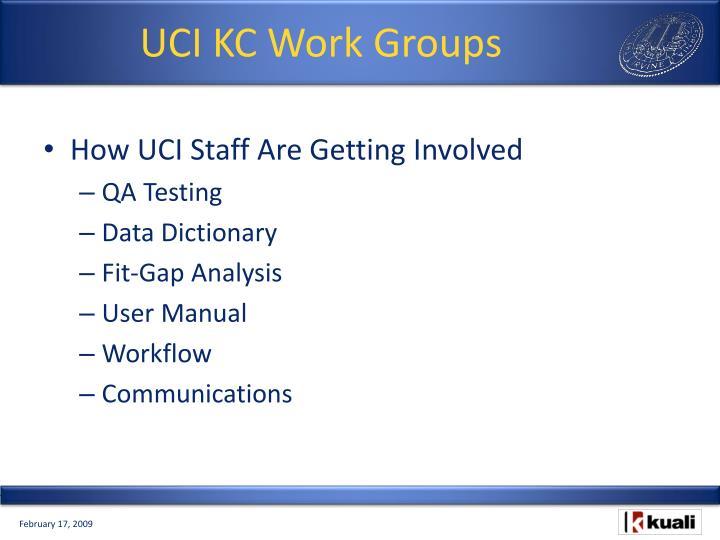 UCI KC Work Groups