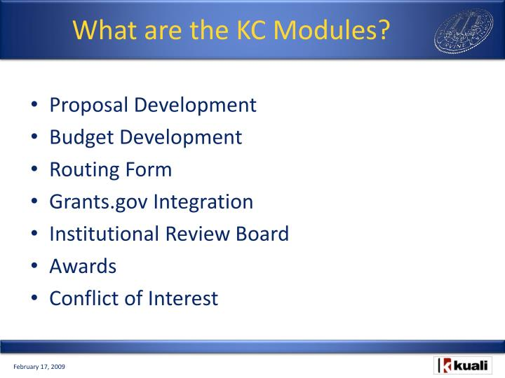 What are the KC Modules?