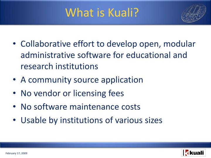 What is Kuali?