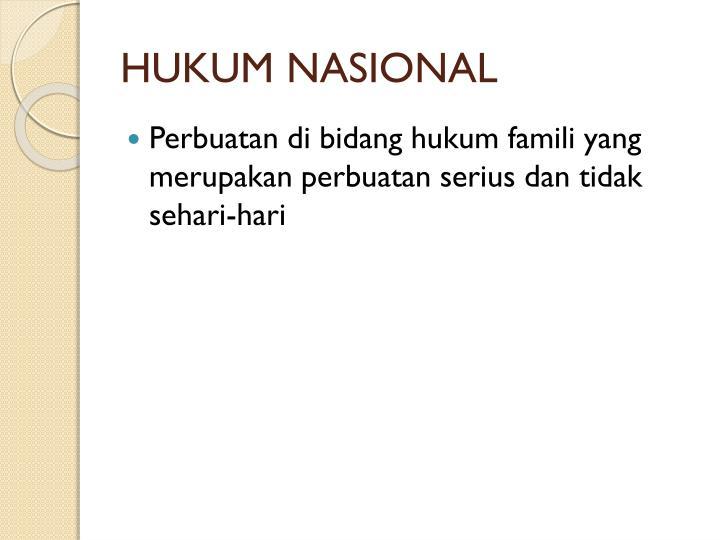 HUKUM NASIONAL