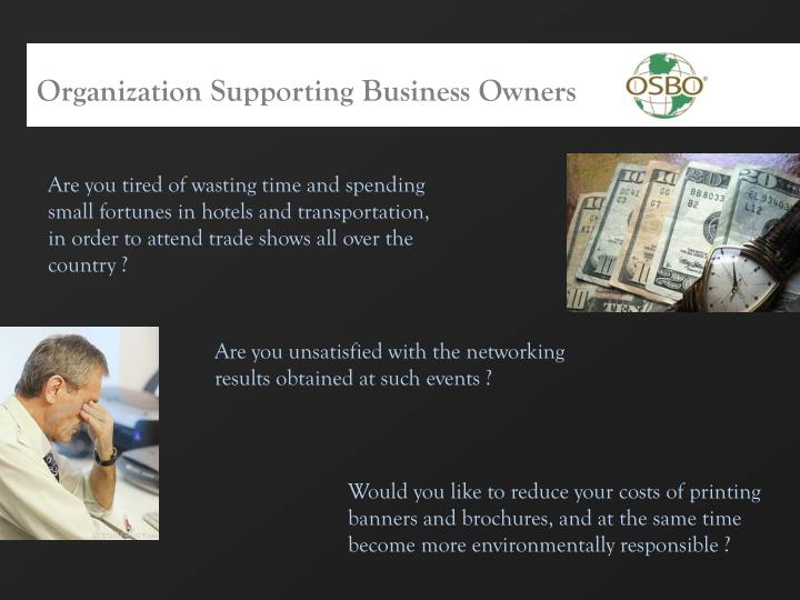 Organization Supporting Business Owners