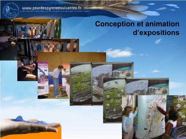 Conception et animation d'expositions