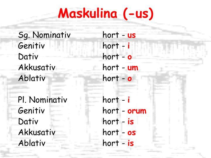 Maskulina (-us)