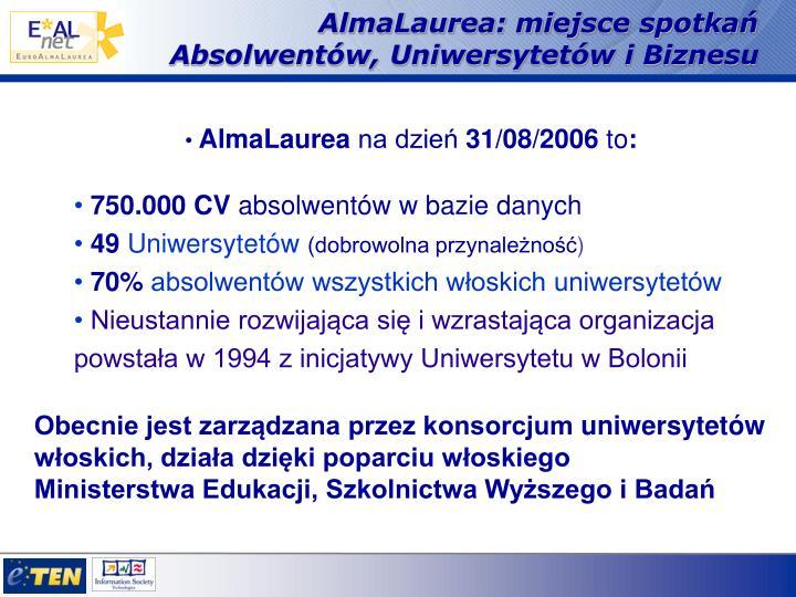AlmaLaurea: miejsce spotkań Absolwentów, Uniwersytetów i Biznesu