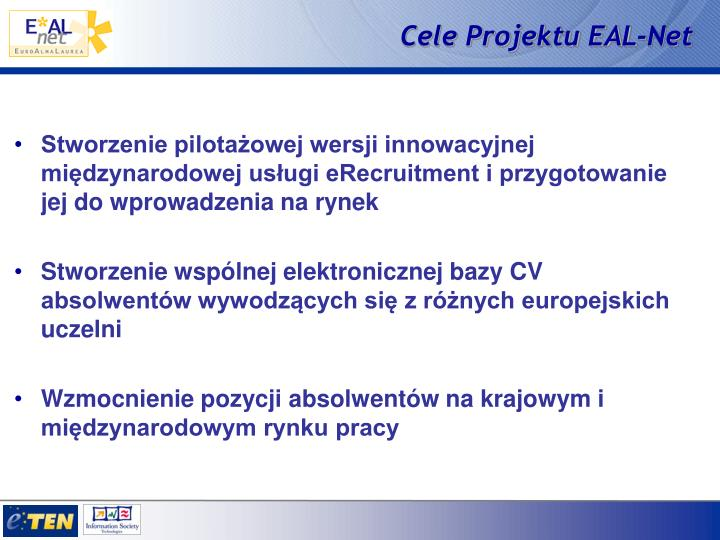 Cele Projektu EAL-Net