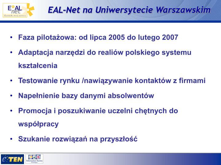 EAL-Net na Uniwersytecie Warszawskim