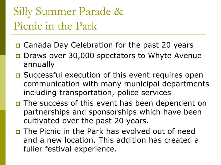 Silly Summer Parade &