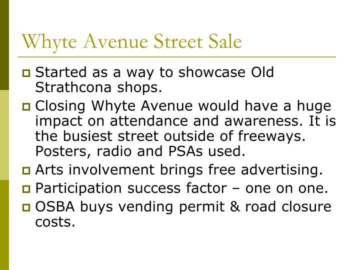 Whyte Avenue Street Sale