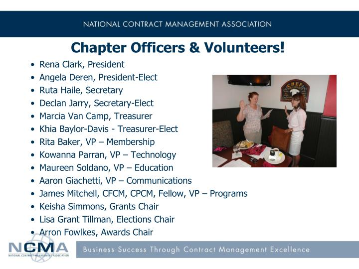 Chapter Officers & Volunteers