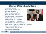 chapter officers volunteers