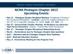 ncma pentagon chapter 2013 upcoming events