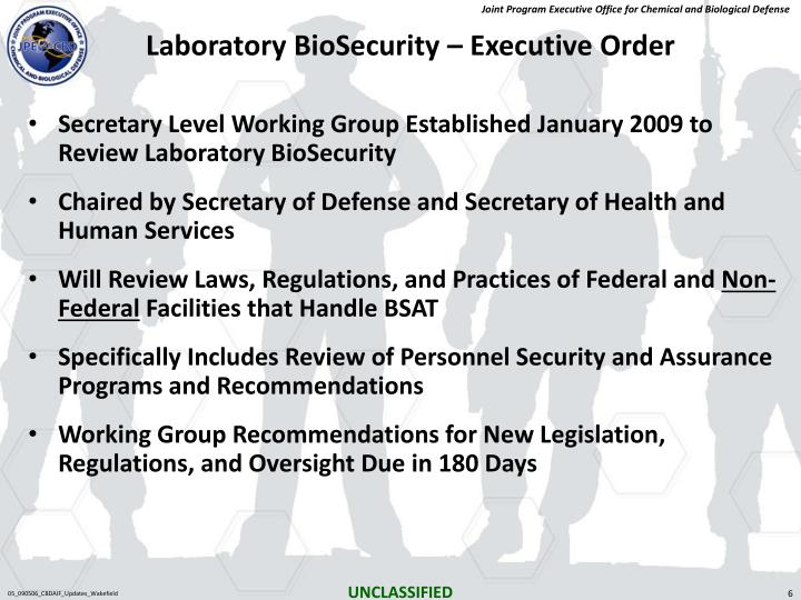 Laboratory BioSecurity – Executive Order
