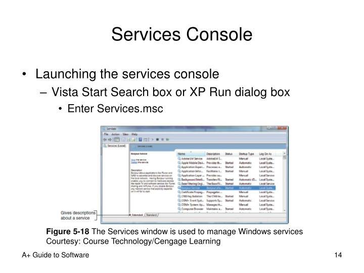Services Console