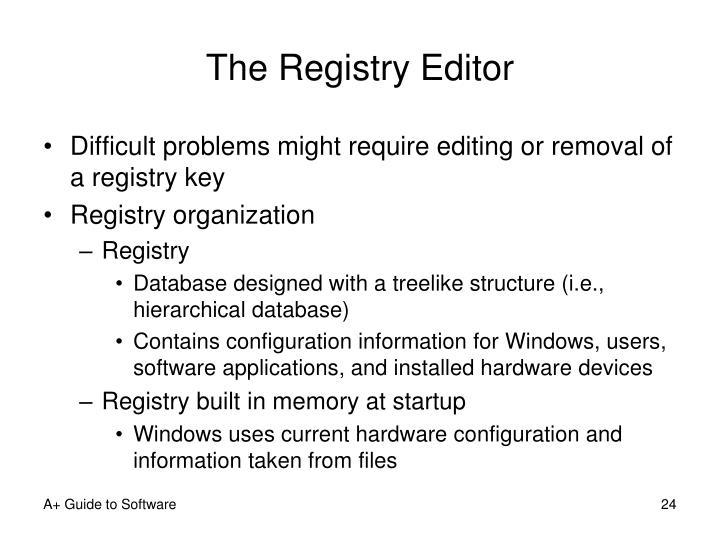 The Registry Editor