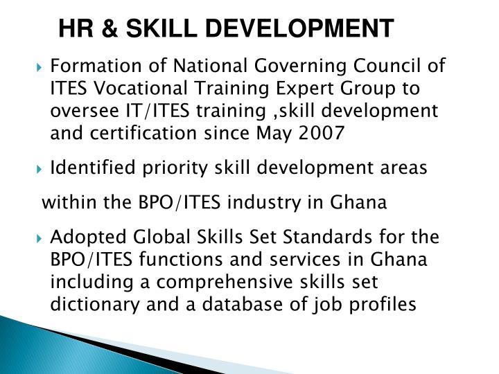 HR & SKILL DEVELOPMENT