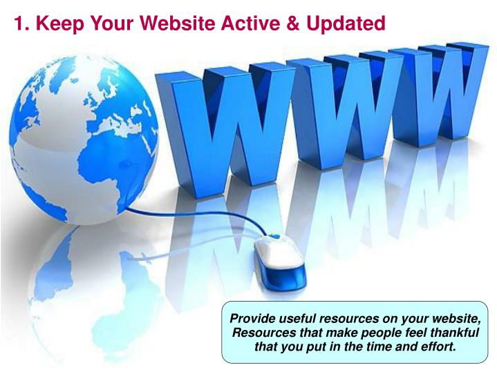 1. Keep Your Website Active & Updated