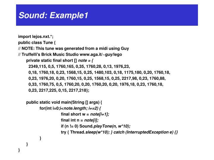 Sound: Example1