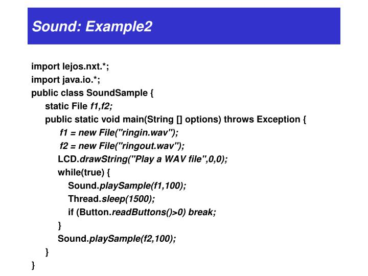 Sound: Example2