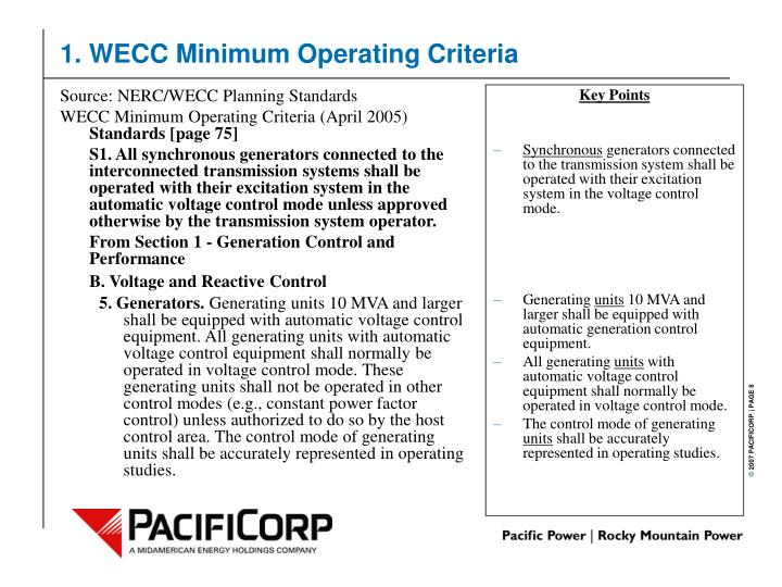 Source: NERC/WECC Planning Standards