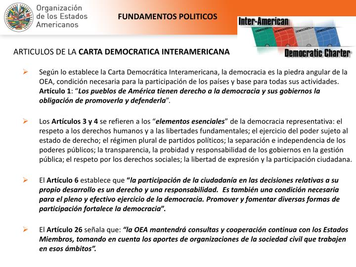 FUNDAMENTOS POLITICOS