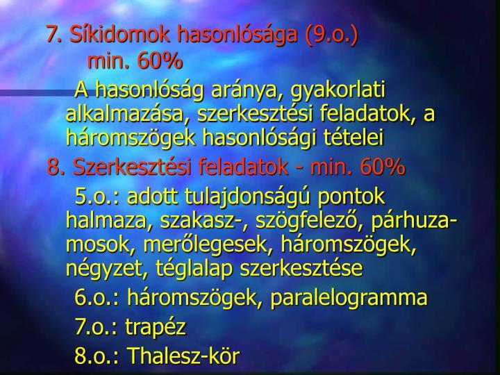 7. Síkidomok hasonlósága (9.o.)