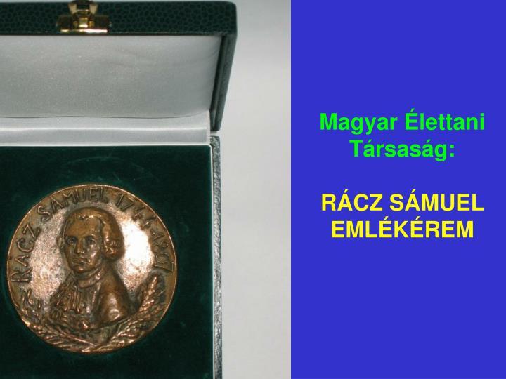 Magyar Élettani Társaság: