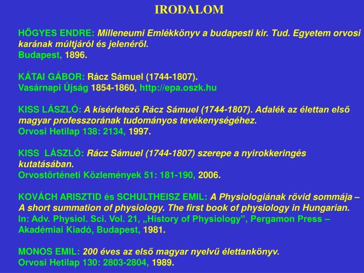 IRODALOM